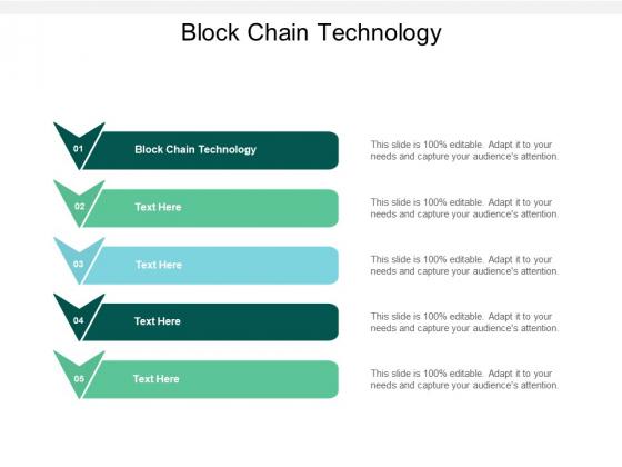 Block Chain Technology Ppt PowerPoint Presentation Slides Ideas Cpb