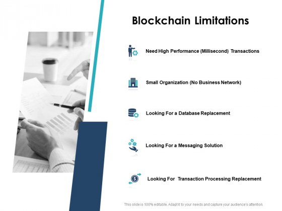 Blockchain Limitations Performance Ppt PowerPoint Presentation Summary Background Image