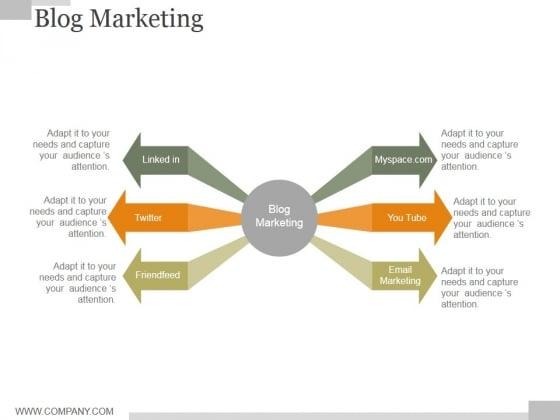 Blog Marketing Ppt PowerPoint Presentation Themes
