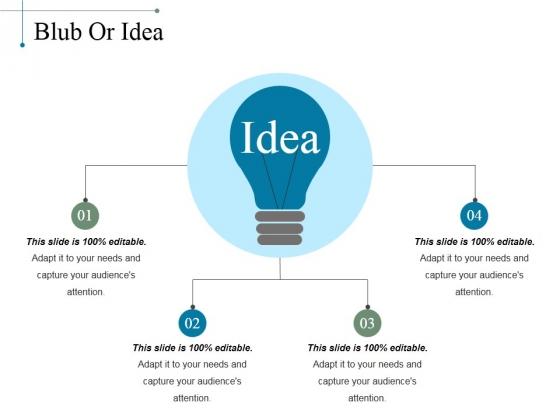 Blub Or Idea Ppt PowerPoint Presentation Layouts Skills