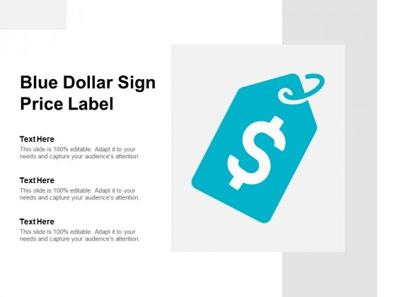 Blue Dollar Sign Price Label Ppt PowerPoint Presentation Infographic Template Graphics Design