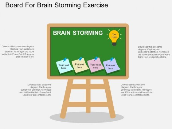 Board For Brain Storming Exercise Powerpoint Template