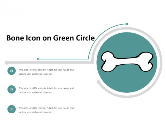 Bone Icon On Green Circle Ppt Powerpoint Presentation Model Background Designs