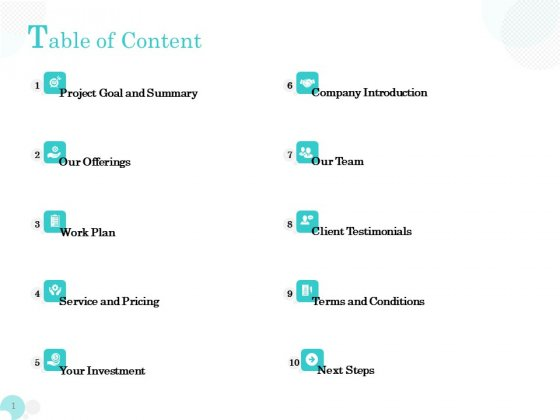 Bookkeeping Table Of Content Ppt PowerPoint Presentation Icon Microsoft PDF