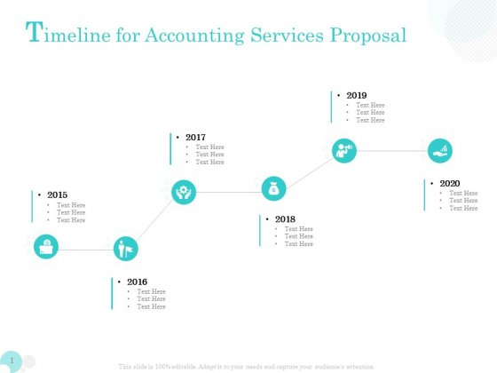 Bookkeeping Timeline For Accounting Services Proposal Ppt PowerPoint Presentation Show Design Ideas PDF