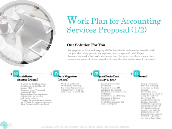 Bookkeeping Work Plan For Accounting Services Proposal Ppt PowerPoint Presentation Model Show PDF