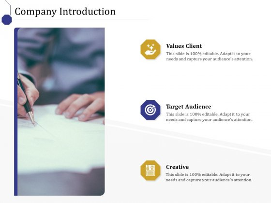 Boost Marketing And Sales Through Live Chat Company Introduction Ppt Icon Display PDF