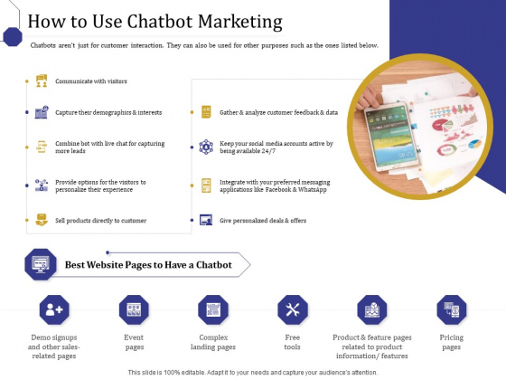 Boost Marketing And Sales Through Live Chat How To Use Chatbot Marketing Ppt Ideas Shapes PDF