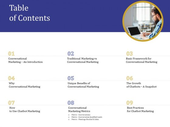 Boost Marketing And Sales Through Live Chat Table Of Contents Ppt Pictures Guidelines PDF
