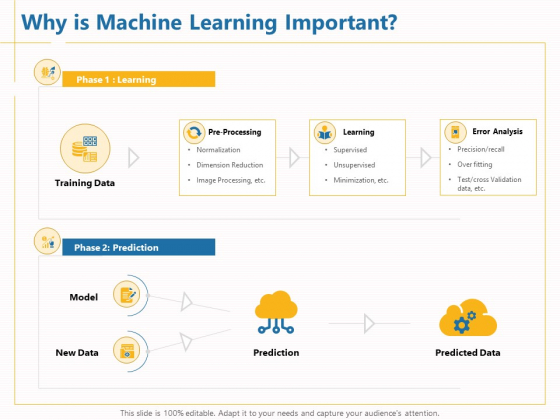 Boosting Machine Learning Why Is Machine Learning Important Ppt PowerPoint Presentation Infographics Graphics Download PDF