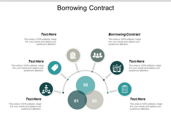 Borrowing Contract Ppt PowerPoint Presentation Model Slide Cpb
