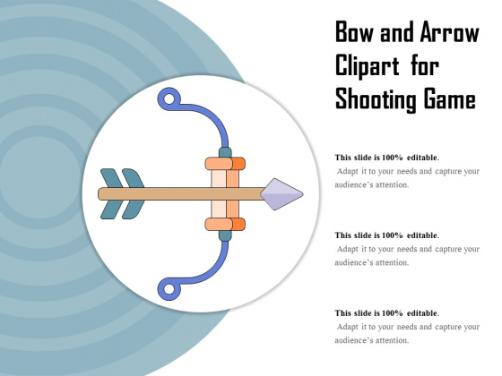 Bow And Arrow Clipart For Shooting Game Ppt PowerPoint Presentation Gallery Demonstration PDF