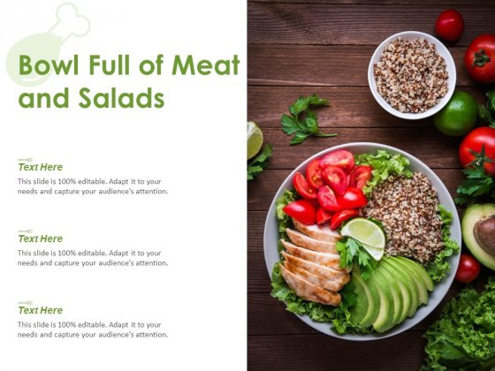Bowl Full Of Meat And Salads Ppt PowerPoint Presentation Slides Graphic Tips