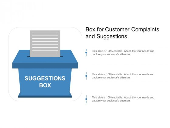Box For Customer Complaints And Suggestions Ppt Powerpoint Presentation Layouts Introduction