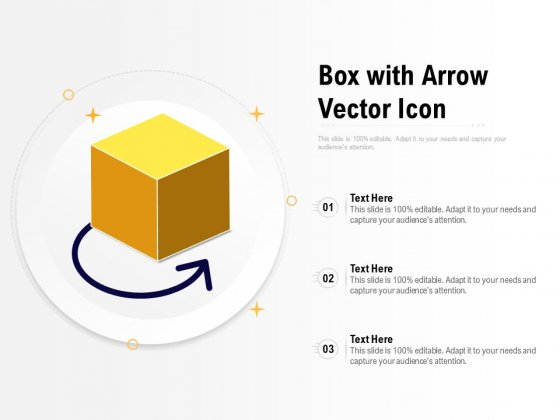 Box With Arrow Vector Icon Ppt PowerPoint Presentation File Deck PDF
