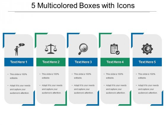 Boxes Free PowerPoint Diagram