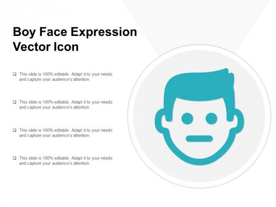 Boy Face Expression Vector Icon Ppt PowerPoint Presentation Files