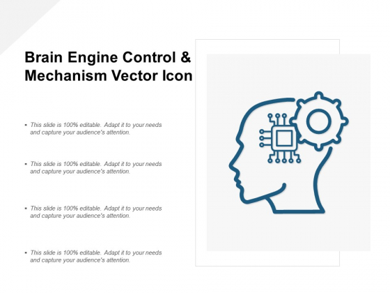 Brain Engine Control And Mechanism Vector Icon Ppt PowerPoint Presentation Layouts Gridlines
