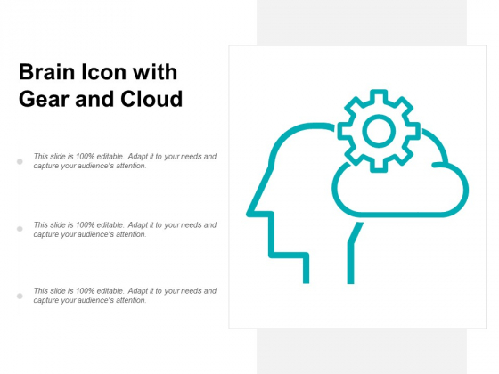 Brain Icon With Gear And Cloud Ppt PowerPoint Presentation Styles Slides