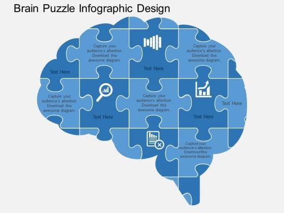 Brain Puzzle Infographic Design Powerpoint Templates