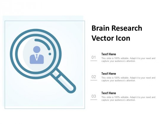 Brain Research Vector Icon Ppt PowerPoint Presentation Outline Graphics Example