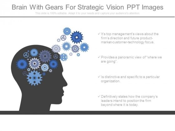 Brain With Gears For Strategic Vision Ppt Images