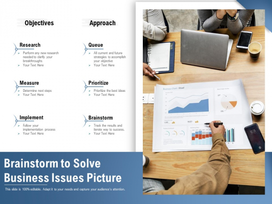 Brainstorm To Solve Business Issues Picture Ppt PowerPoint Presentation Portfolio Gallery PDF