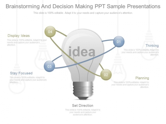 Brainstorming And Decision Making Ppt Sample Presentations