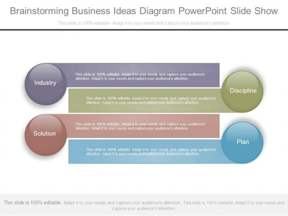 Brainstorming Business Ideas Diagram Powerpoint Slide Show