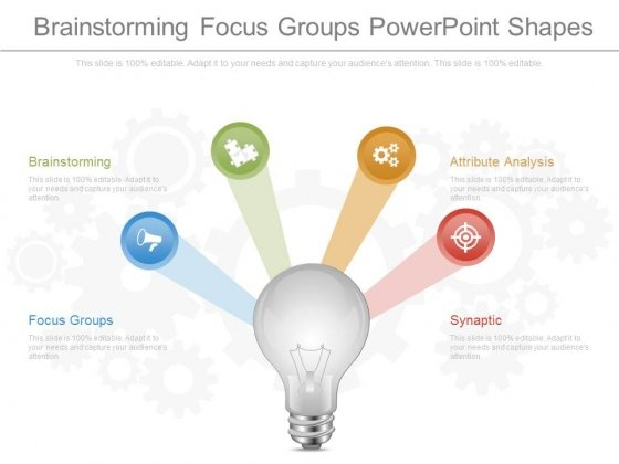 Brainstorming Focus Groups Powerpoint Shapes