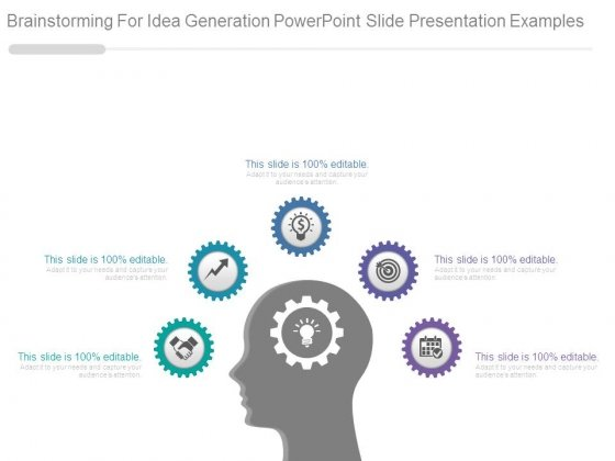 Brainstorming For Idea Generation Powerpoint Slide Presentation Examples