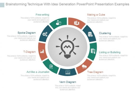 Brainstorming Technique With Idea Generation Powerpoint Presentation Examples