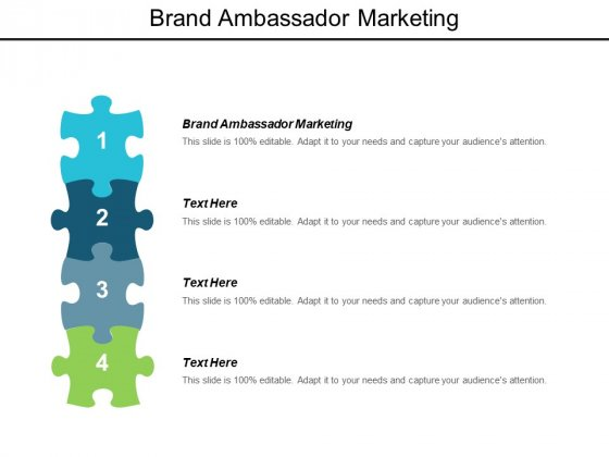Brand Ambassador Marketing Ppt Powerpoint Presentation Styles Portrait Cpb