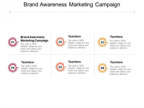 Brand Awareness Marketing Campaign Ppt PowerPoint Presentation Portfolio Topics Cpb Pdf