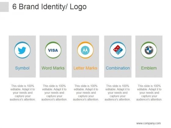 Brand Identity Logo Ppt PowerPoint Presentation Model