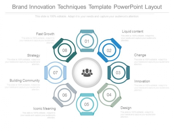 Brand Innovation Techniques Template Powerpoint Layout