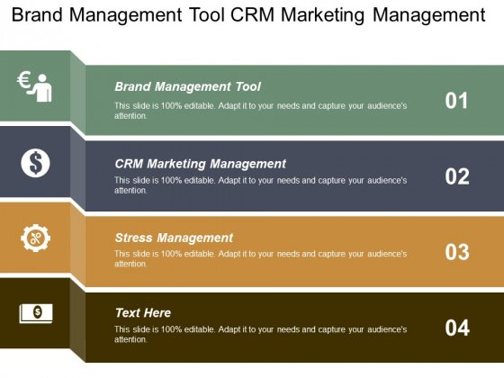 Brand Management Tool Crm Marketing Management Stress Management Ppt PowerPoint Presentation Outline Gridlines