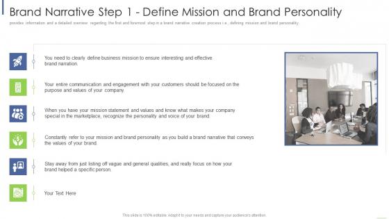 Brand Narrative Step 1 Define Mission And Brand Personality Portrait PDF