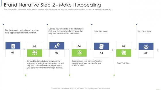 Brand Narrative Step 2 Make It Appealing Ppt Ideas Background Image PDF