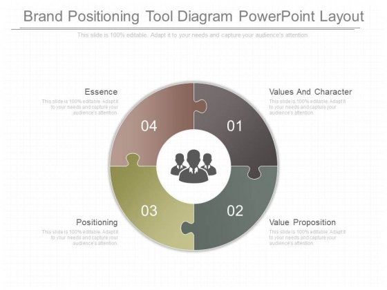Brand Positioning Tool Diagram Powerpoint Layout