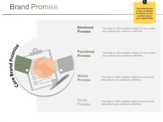 Brand Promise Ppt Powerpoint Presentation Infographic Template