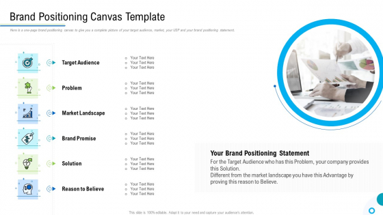 Brand Promotion And Management Plan Brand Positioning Canvas Template Slides PDF