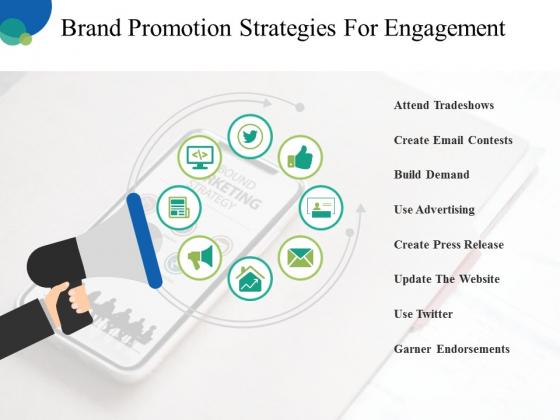 Brand Promotion Strategies For Engagement Ppt PowerPoint Presentation Portfolio Slides