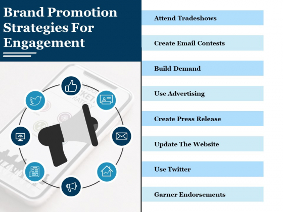 Brand Promotion Strategies For Engagement Ppt PowerPoint Presentation Styles Show