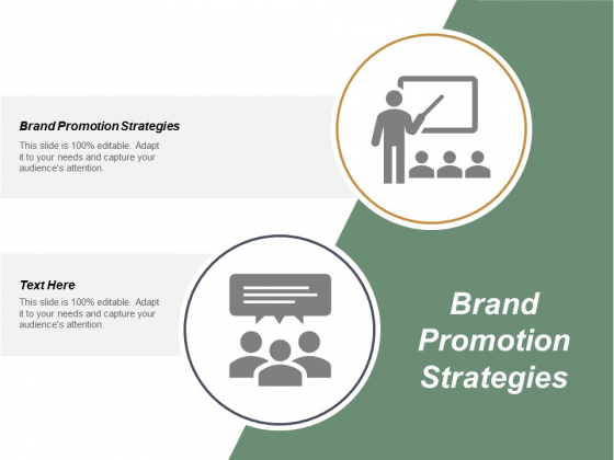 Brand Promotion Strategies Ppt PowerPoint Presentation Professional Guide Cpb