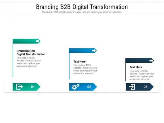 Branding B2B Digital Transformation Ppt PowerPoint Presentation Ideas Themes Cpb Pdf