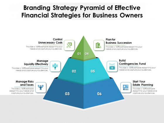 Branding Strategy Pyramid Of Effective Financial Strategies For Business Owners Ppt PowerPoint Presentation File Graphics PDF