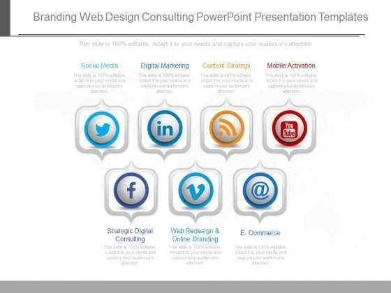 Branding Web Design Consulting Powerpoint Presentation Templates