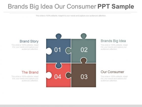 Brands Big Idea Our Consumer Ppt Sample