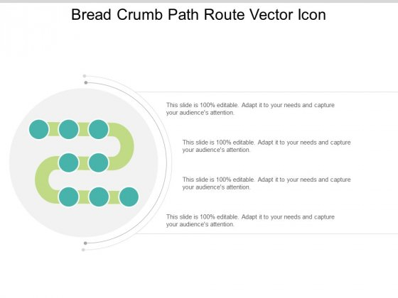Bread Crumb Path Route Vector Icon Ppt Powerpoint Presentation Ideas File Formats